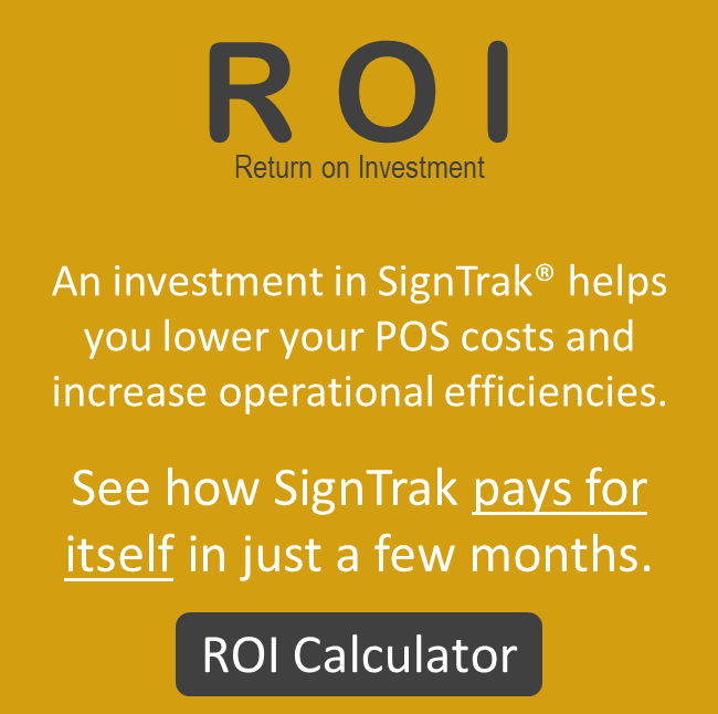 SignTrak POS Reporting and Analysis Tools