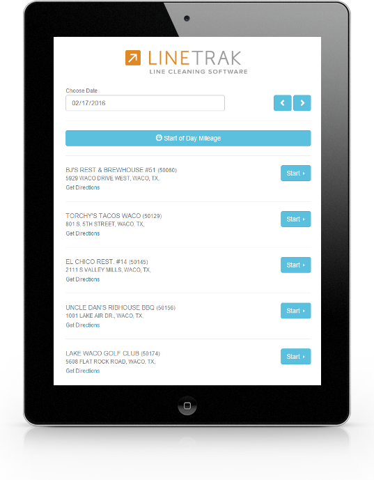 LineTrak - Line Cleaning Software