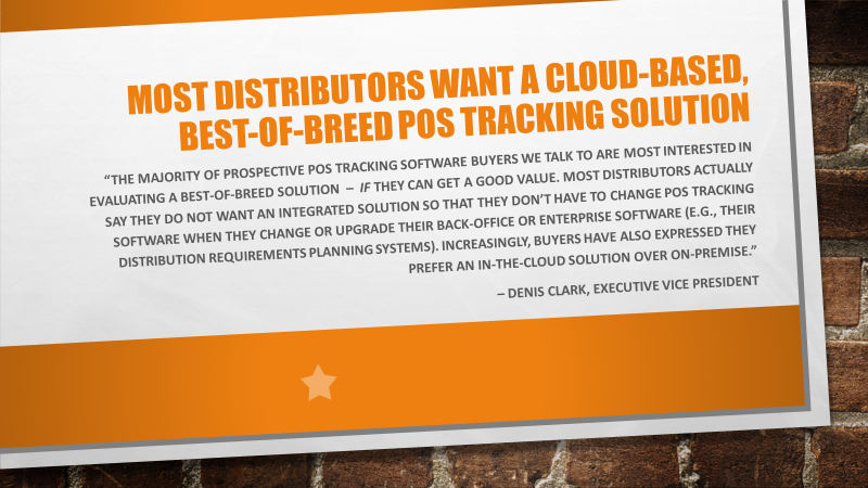 The Best Reasons for Choosing and Using a Best-of-Breed Point-of-Sale (POS) Tracking Solution